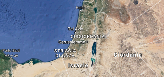 Israele vista dal satellite
