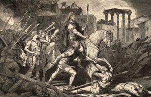 Teodosio, Onorio, Stilicone e il primo sacco di Roma