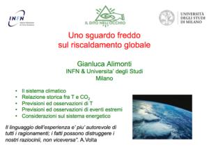 Uno sguardo freddo sul riscaldamento globale, slide del prof. Alimonti